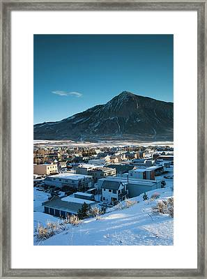 Usa, Colorado, Crested Butte, Elevated Framed Print