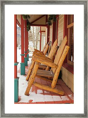 Usa, Colorado, Crested Butte, Rocking Framed Print by Walter Bibikow
