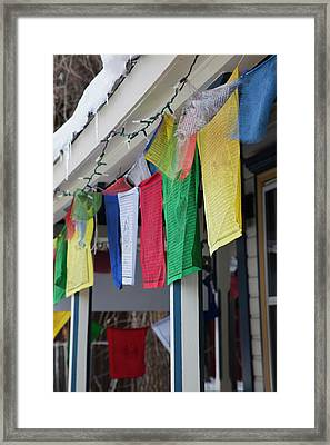 Usa, Colorado, Crested Butte, Tibetan Framed Print by Walter Bibikow