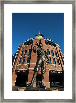 Usa, Colorado, Denver, Coors Field Framed Print by Walter Bibikow