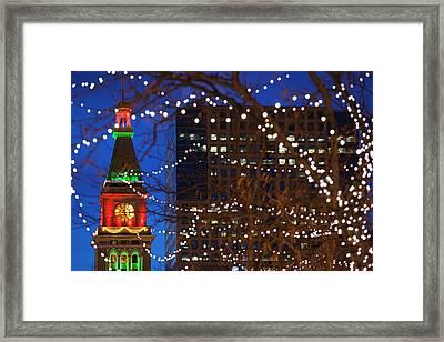 Usa, Colorado, Denver, Daniels Framed Print by Walter Bibikow