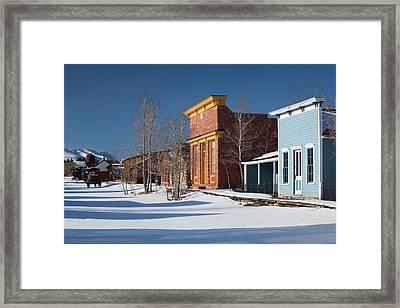 Usa, Colorado, Fairplay, Historic Framed Print by Walter Bibikow