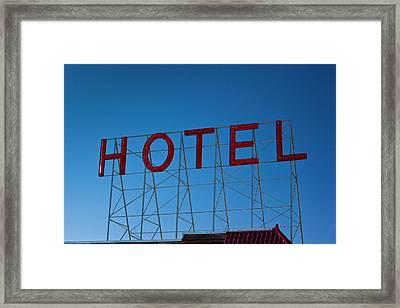Usa, Colorado, Fairplay, Hotel Sign Framed Print by Walter Bibikow