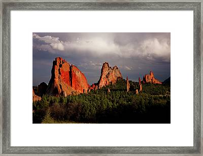 Usa, Colorado, Garden Of The Gods Framed Print by Jaynes Gallery