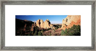 Usa, Colorado, Garden Of The Gods State Framed Print by Walter Bibikow