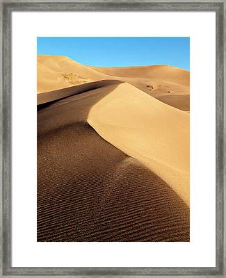 Usa, Colorado, Great Sand Dunes Framed Print