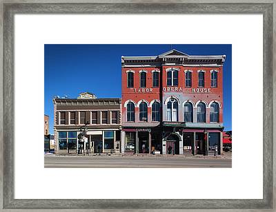 Usa, Colorado, Leadville, Historic Framed Print by Walter Bibikow