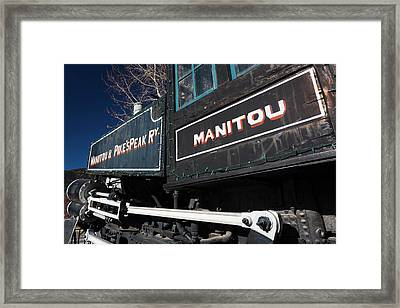 Usa, Colorado, Manitou Springs, Manitou Framed Print by Walter Bibikow
