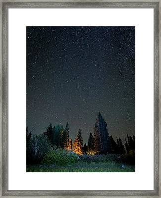 Usa, Colorado Night Sky At Lost Lake Framed Print by Jaynes Gallery