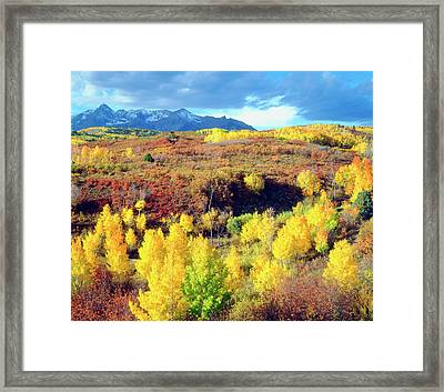 Usa, Colorado, Rocky Mountains, Autumn Framed Print by Jaynes Gallery