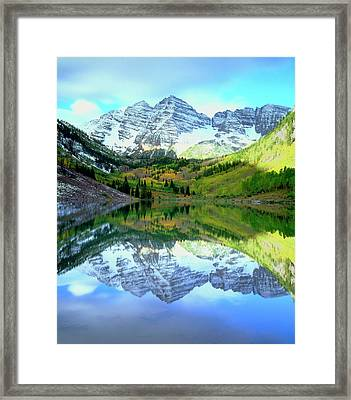 Usa, Colorado Rocky Mountains, Maroon Framed Print by Jaynes Gallery