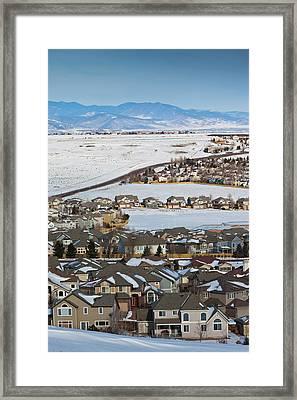 Usa, Colorado, Superior, Greater Denver Framed Print by Walter Bibikow