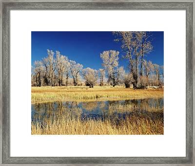 Usa, Evanston, Wyoming, View Framed Print by Scott T. Smith