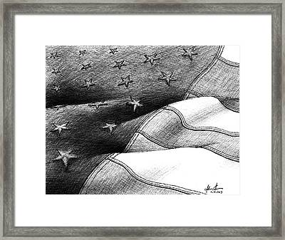 Usa Flag Of Freedom Framed Print