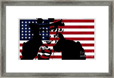 Usa Flag Framed Print by T Lang