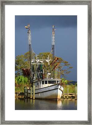 Usa, Florida, Apalachicola, Shrimp Boat Framed Print