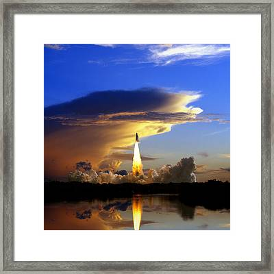 Usa, Florida, Kennedy Space Center Framed Print by Tips Images