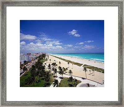 Usa, Florida, Miami, Ocean Drive Framed Print