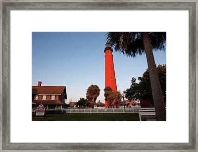 Usa, Florida, Ponce Inlet, Lighthouse Framed Print by Lisa S. Engelbrecht