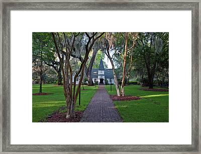 Usa, Ga, St Simmons Island, Christ Framed Print by Rob Tilley
