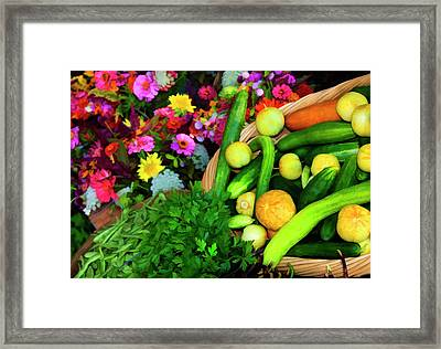 Usa, Georgia, Savannah, Flowers, Herbs Framed Print by Joanne Wells