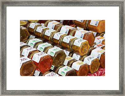 Usa, Georgia, Savannah, Home Made Jams Framed Print by Joanne Wells
