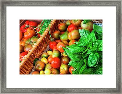 Usa, Georgia, Savannah, Tomatoes Framed Print by Joanne Wells