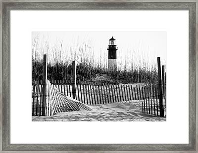 Usa, Georgia, Tybee Island, Fences Framed Print by Ann Collins