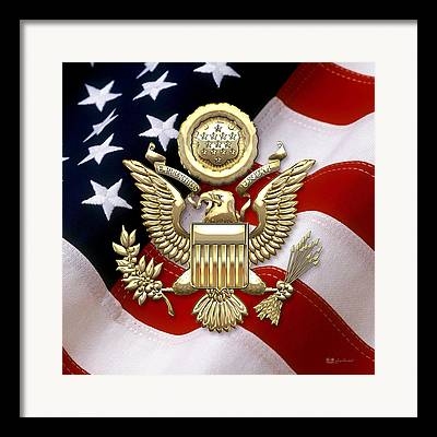 Great Seal Of The United States Framed Prints