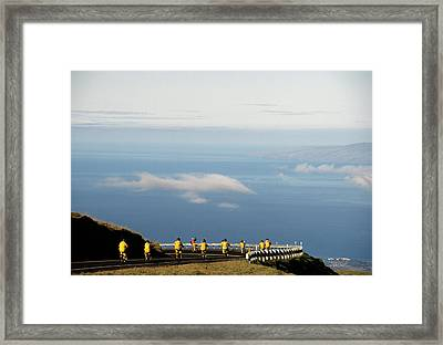 Usa, Hawaii, Downhill Bicycling Framed Print