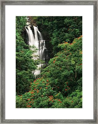 Usa, Hawaii Islands, View Of Nanue Framed Print