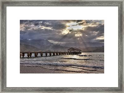 Usa, Hawaii, Maui, Hanalei, Hanalei Framed Print by Terry Eggers
