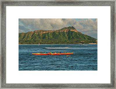 Usa, Hawaii, Oahu, Honolulu, Diamond Framed Print