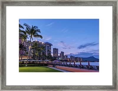 Usa, Hawaii, Oahu, Honolulu, Waikiki Framed Print by Rob Tilley