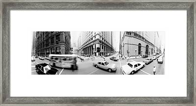Usa, Illinois, Chicago, Vehicles Framed Print