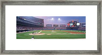Usa, Illinois, Chicago, White Sox Framed Print