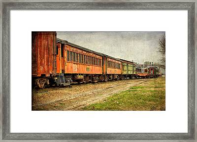 Usa, Indiana The North Mudson Railroad Framed Print by Rona Schwarz