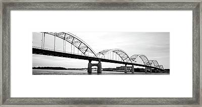 Usa, Iowa, Davenport, Centennial Bridge Framed Print by Panoramic Images