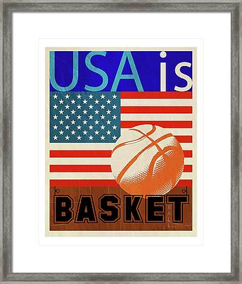 Usa Is Basketball Framed Print by Joost Hogervorst