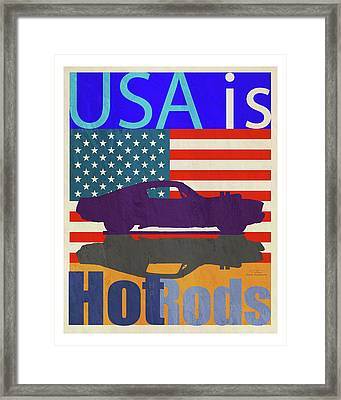 Usa Is Hot Rods Framed Print by Joost Hogervorst