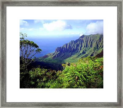 Usa, Kauai, Hawaii Framed Print