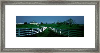 Usa, Kentucky, Lexington, Horse Farm Framed Print by Panoramic Images