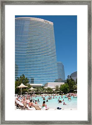 Usa Las Vegas, Aria Resort Framed Print by Lee Foster