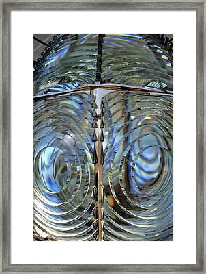 Usa, Lighthouse Lens, Oregon Framed Print by Gerry Reynolds