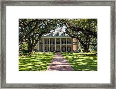 Usa, Louisiana, Oak Alley Plantation Framed Print by Dosfotos