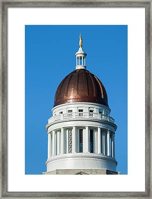 Usa, Maine, Augusta, Maine State House Framed Print
