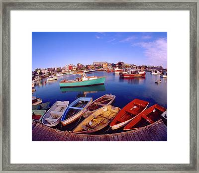 Usa, Maine, Rockport Framed Print