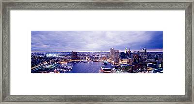 Usa, Maryland, Baltimore, Cityscape Framed Print