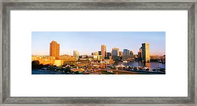 Usa, Maryland, Baltimore, High Angle Framed Print by Panoramic Images