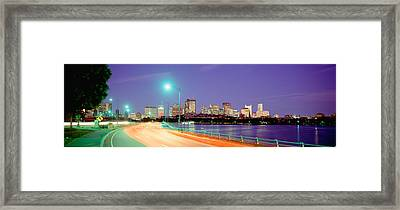 Usa, Massachusetts, Boston, Highway Framed Print by Panoramic Images